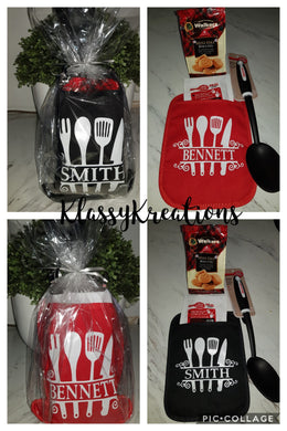 Personalised Pot Holder Gift Pack