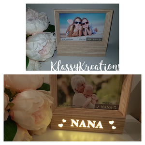 Light Up Photo Frame - wood tone