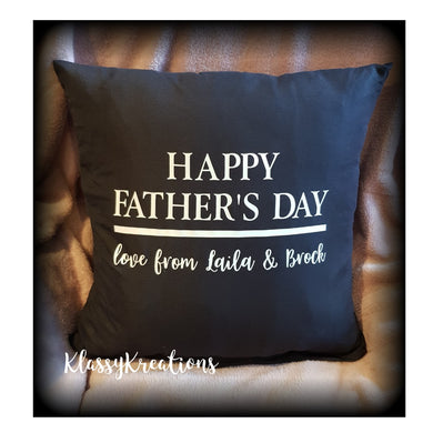 Personalised Cushion - HAPPY FATHER'S DAY