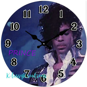 PRINCE glass clock 17cm