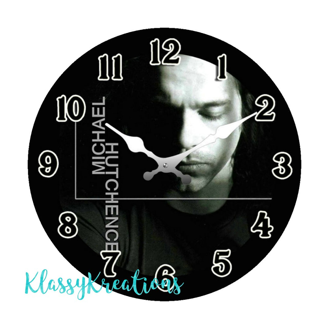 MICHAEL HUTCHENCE glass clock 17cm