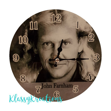 JOHN FARNHAM glass clock 17cm