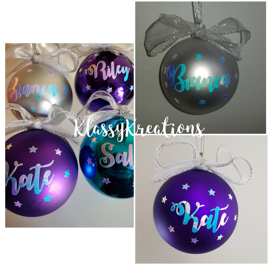 Personalised Christmas bauble ANY NAME 8cm