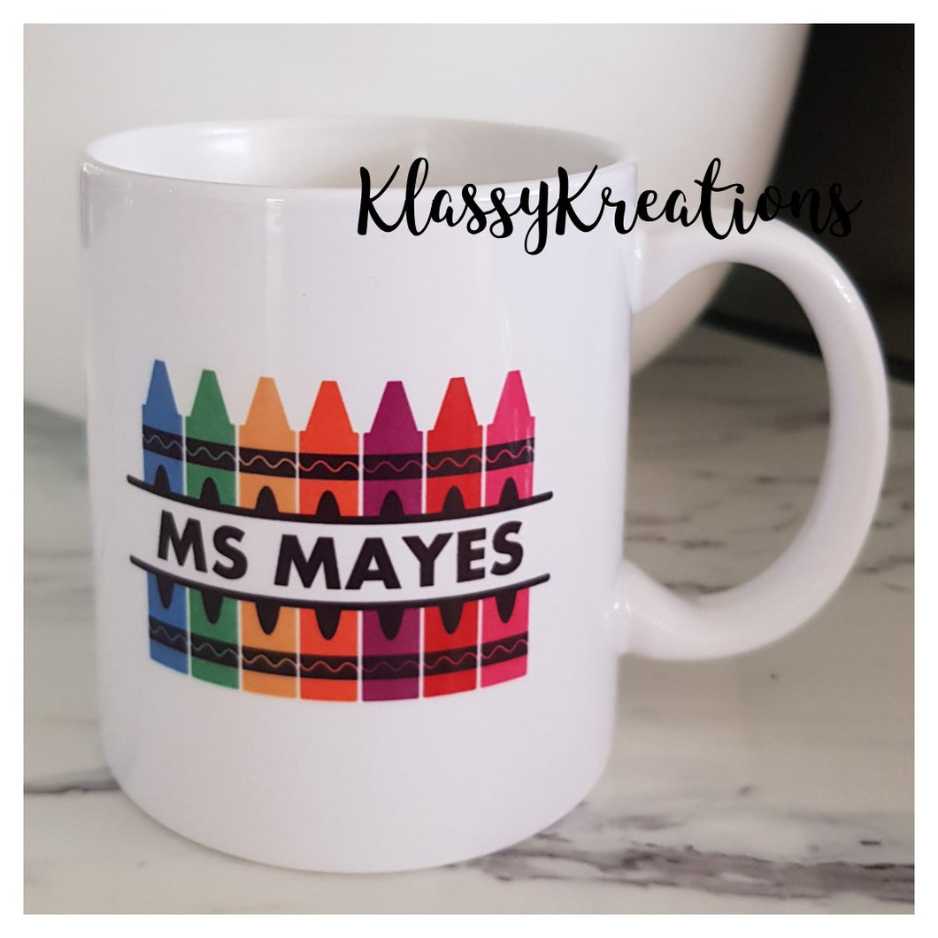 Personalised Teacher Mug - 11oz