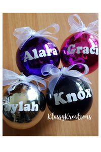 Personalised bauble ANY NAME