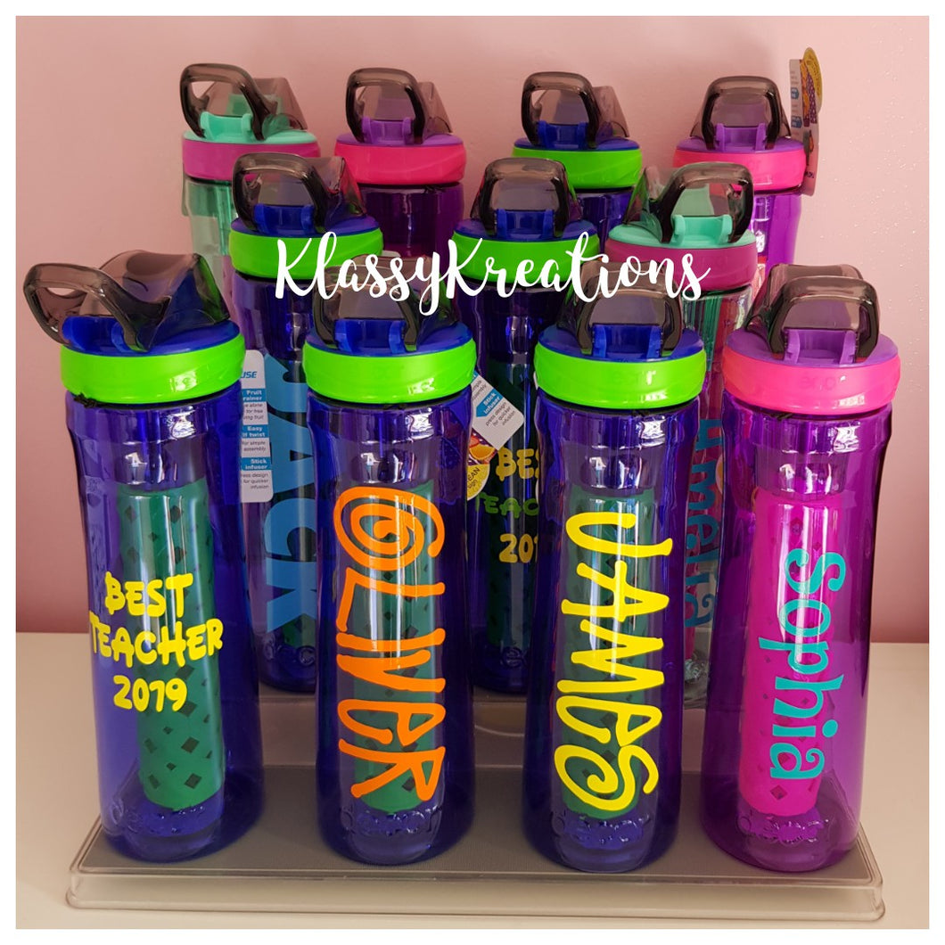 Personalised Drink Bottles ANY NAME - Decor Tritan 780ml