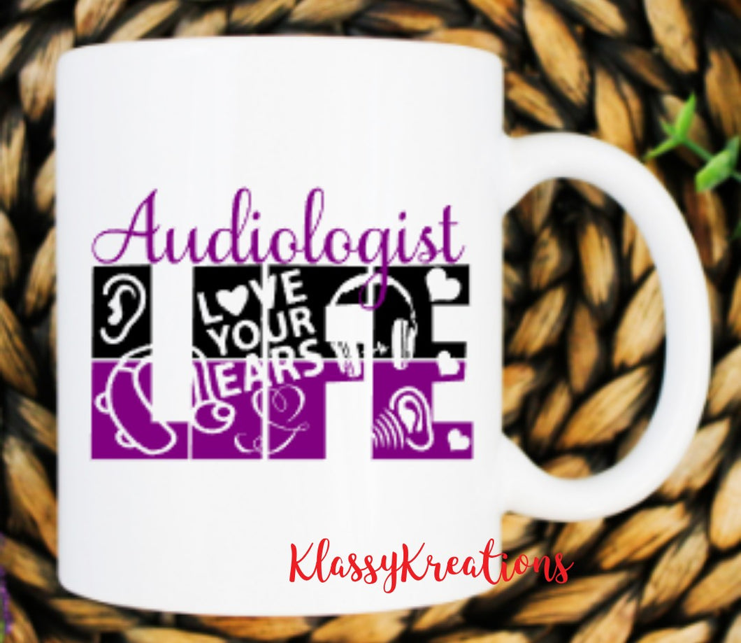 AUDIOLOGIST LIFE - white mug 11oz