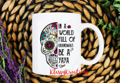 Be a Yaya - white mug 11oz