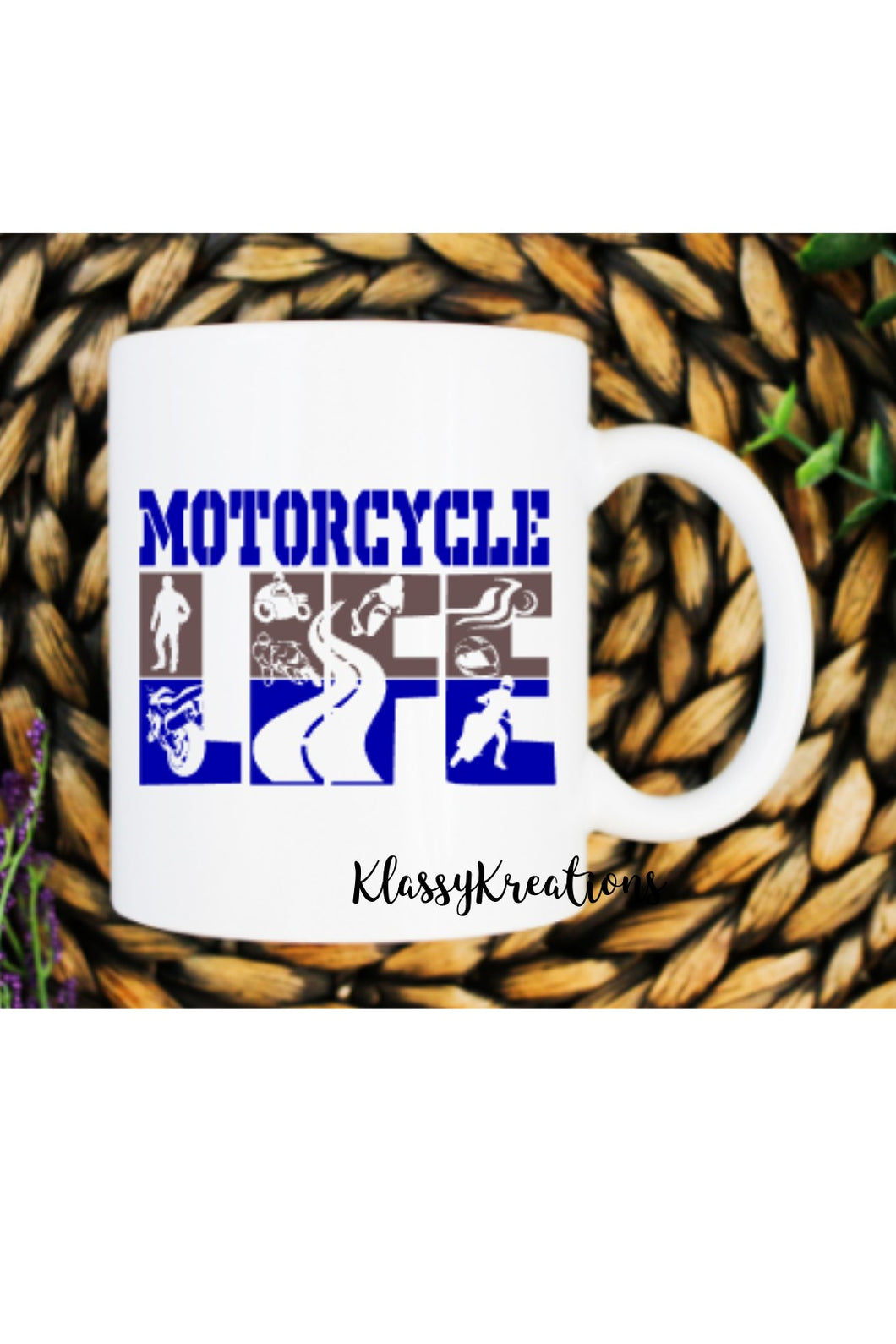 MOTORCYCLE LIFE - white mug 11oz