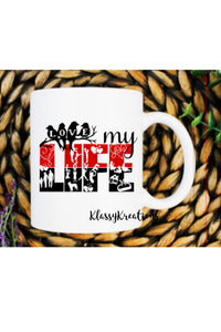 LOVE MY LIFE - white mug 11oz