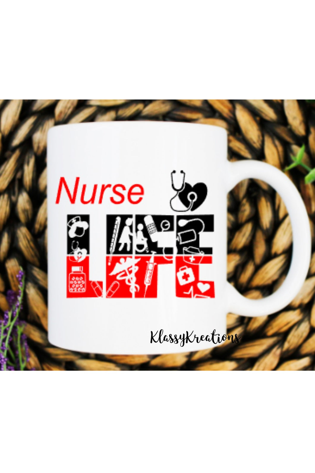 NURSE LIFE - white mug 11oz