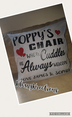 Personalised Cushion - From Grandchildren