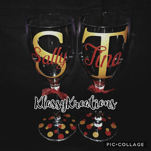 Personalised Plastic Wine Glass
