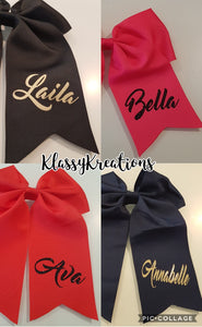 Personalised bow clips ANY NAME