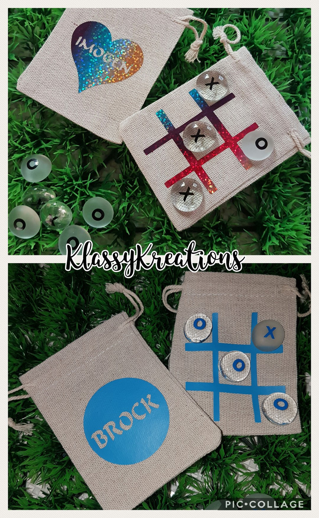 Personalised TIC TAC TOE set