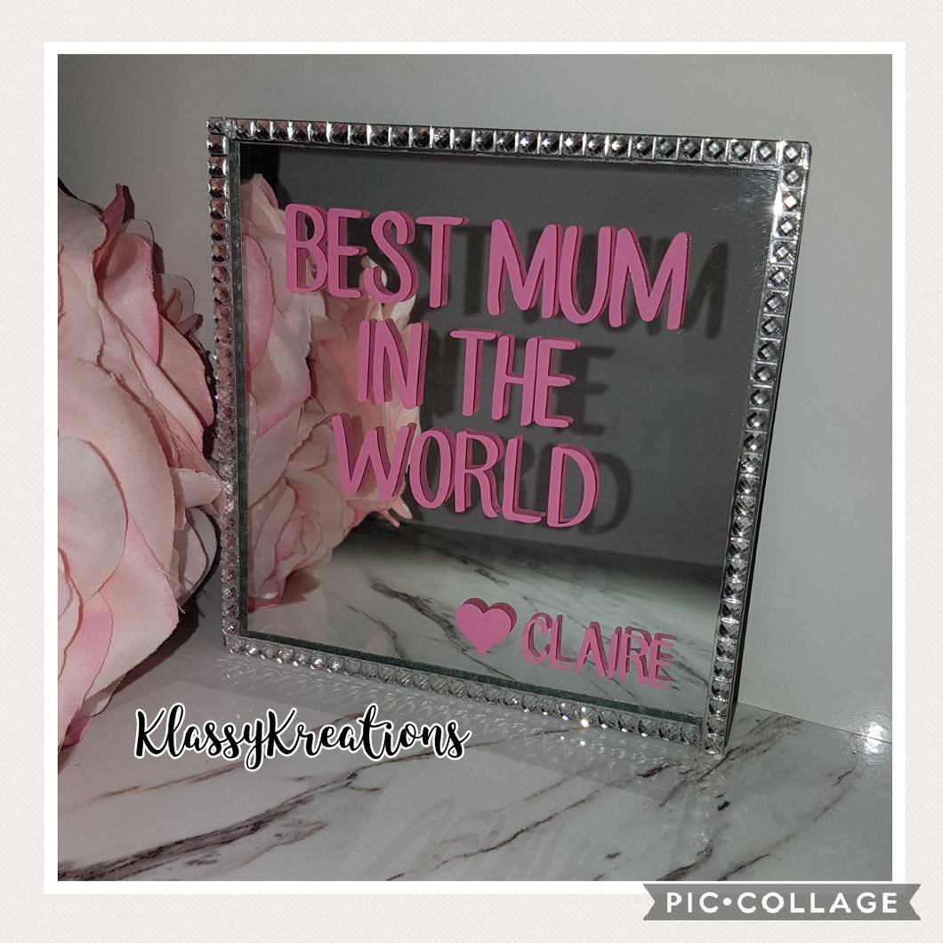 Personalised Mum Mirror Candle/Jewellery Holder