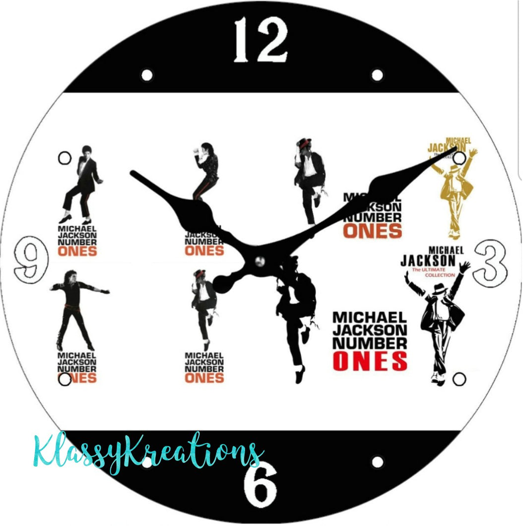 Michael Jackson glass clock 30cm