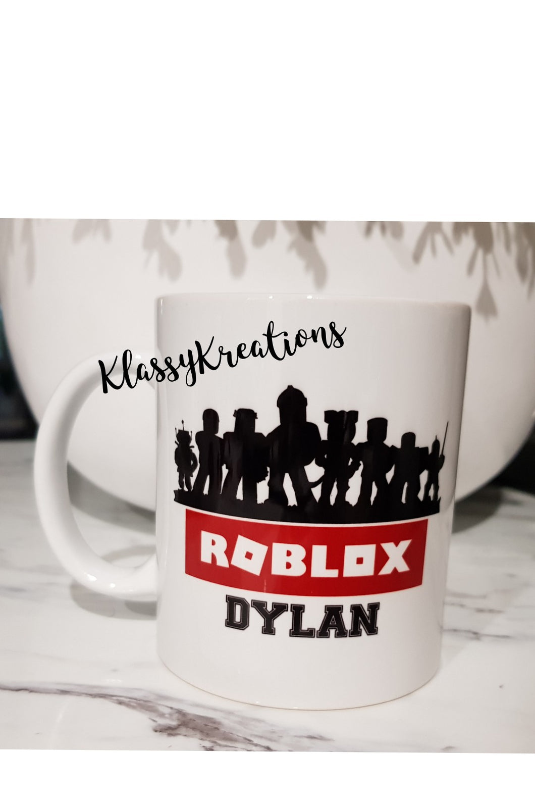 Roblox Inspired with Any Name  - white mug 11oz