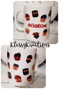 Roblox Inspired Childrens Cup- white mug 11oz