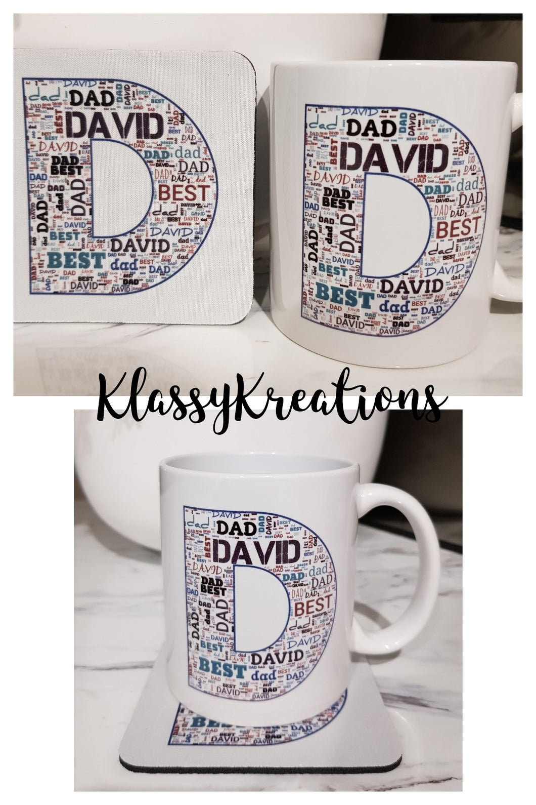 FATHER'S DAY Mug/Coaster Set -  ANY NAME