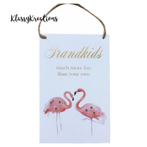 GRANDKIDS PLAQUE- HANGING