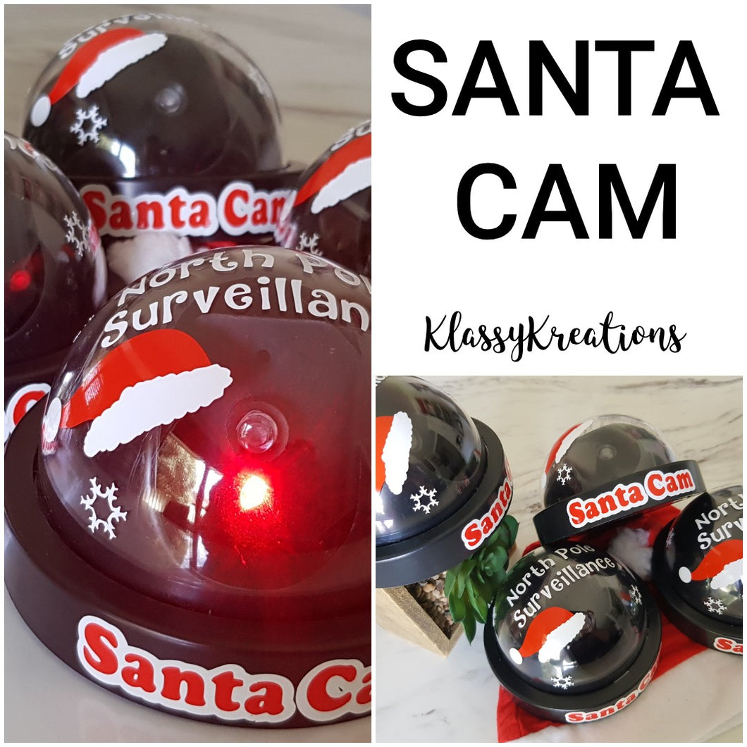 Christmas Santa Cams with light