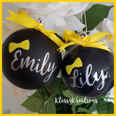 Personalised bauble ANY NAME - Inspired by Emma