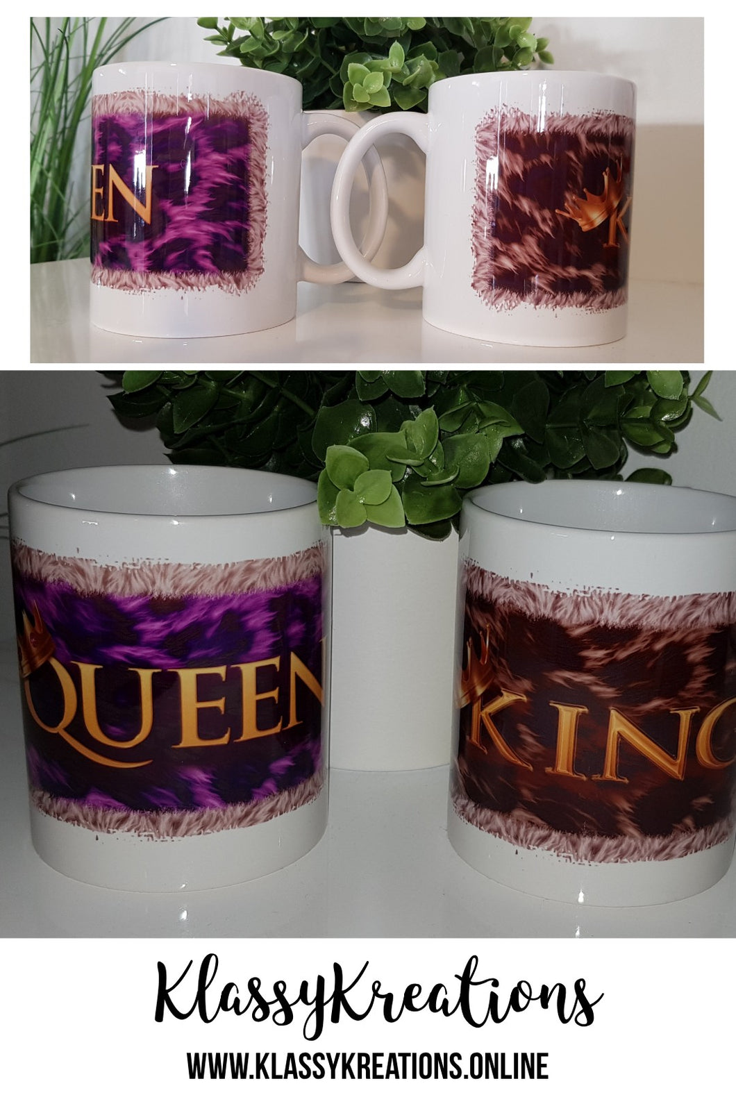 King & Queen  MUG SET - 11oz