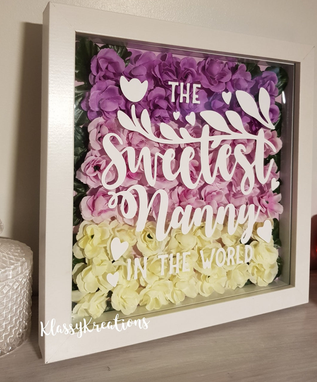 Mother's Shadow Box Frame with Flowers