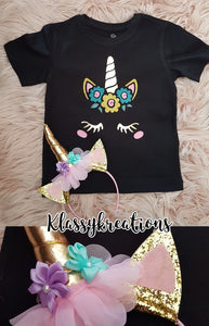 UNICORN T-SHIRT AND HEADBAND SET