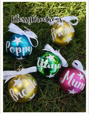 Personalised bauble ANY NAME - 6cm