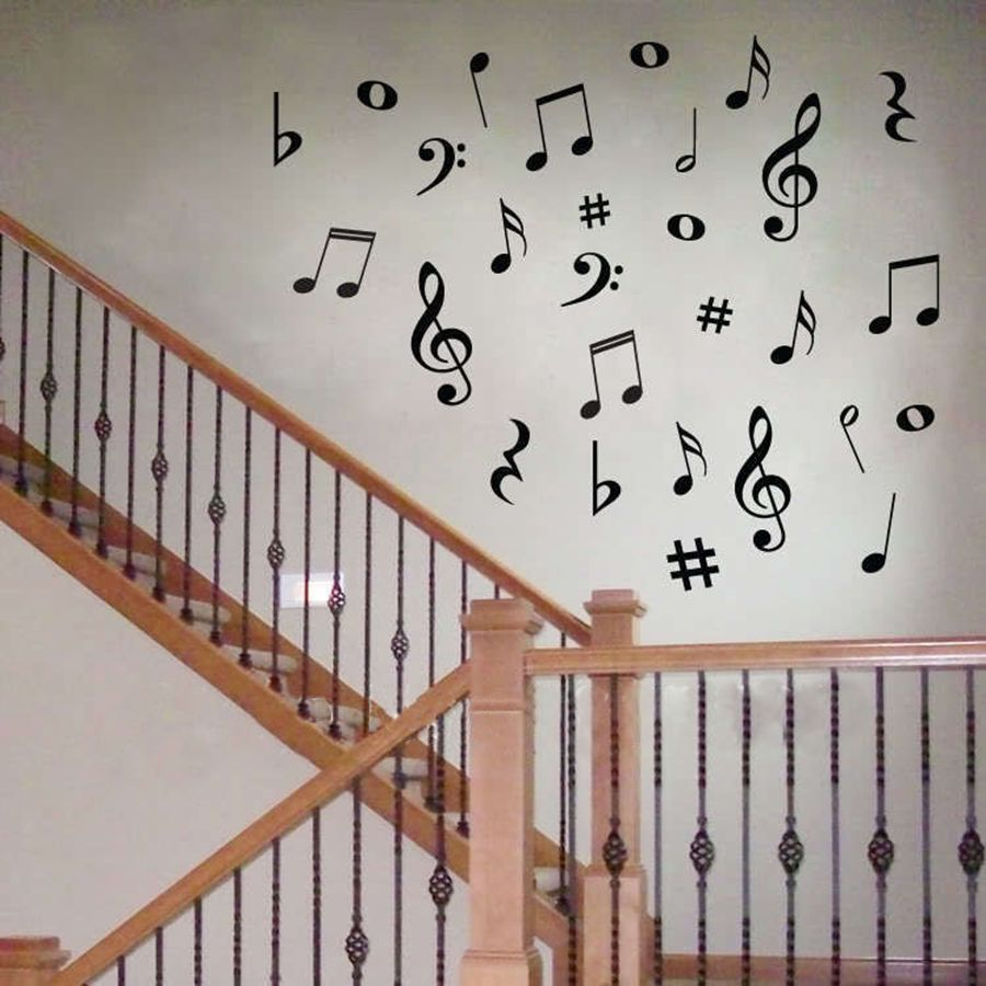 28 Vinyl MUSIC Musical NOTES Variety Pack Wall Decor Decals – Geek ...