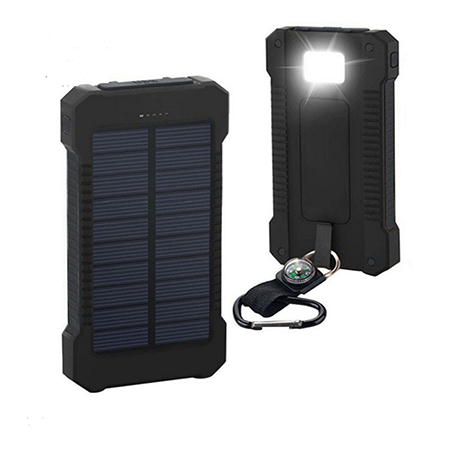 Cloudbank - 20,000MaH, Solar Charging, Built-in Flashlight