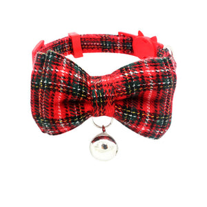 Plaid  Bow Tie Collar w/ bell - Style for Pets
