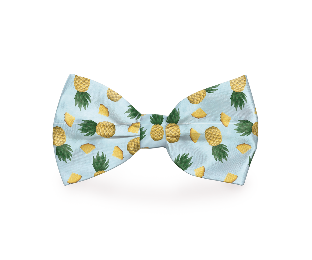 """Tropic Like It's Hot"" Pineapple Dog Bow Tie - Style for Pets"