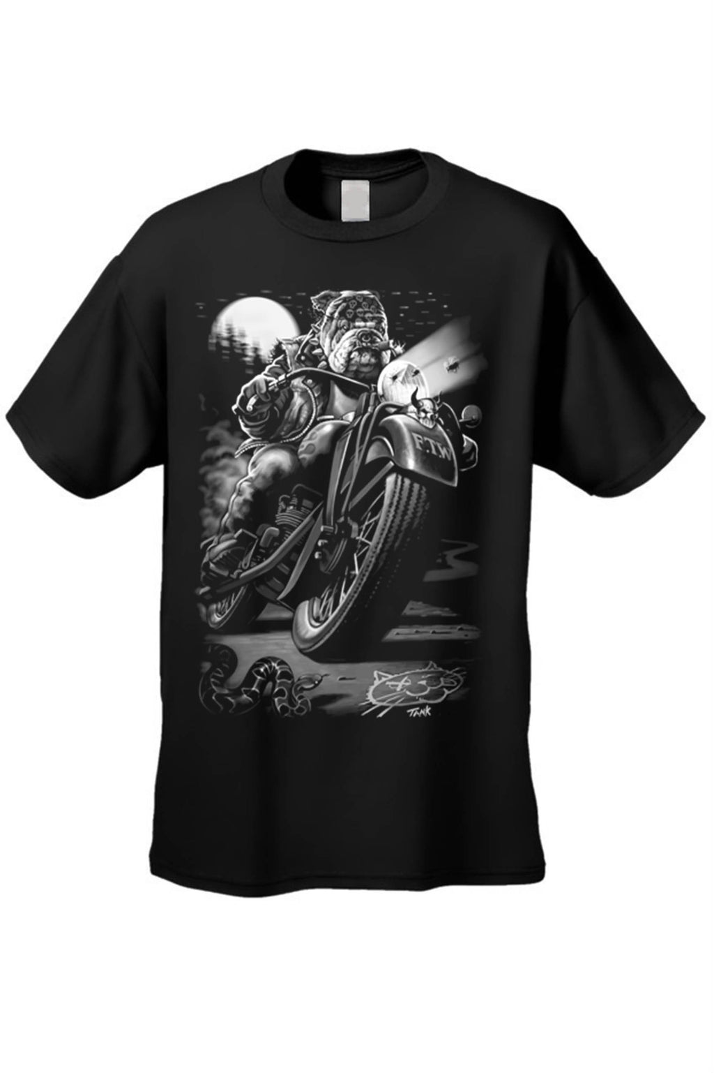 Biker Bulldog T-Shirt - Style for Pets
