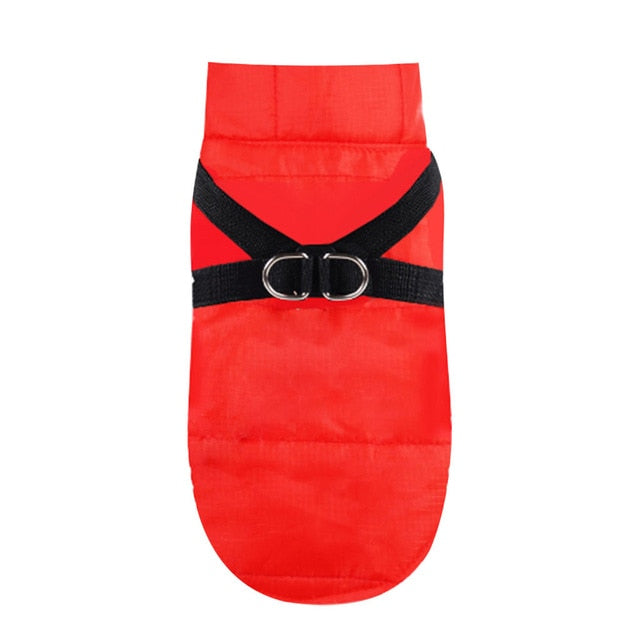 Christmas Belt Dog Jacket Fashion Pet Dog Winter Warm Waterproof Cold Shirt Clothes Pet Cat Coat Vest new year Solid Dog coat
