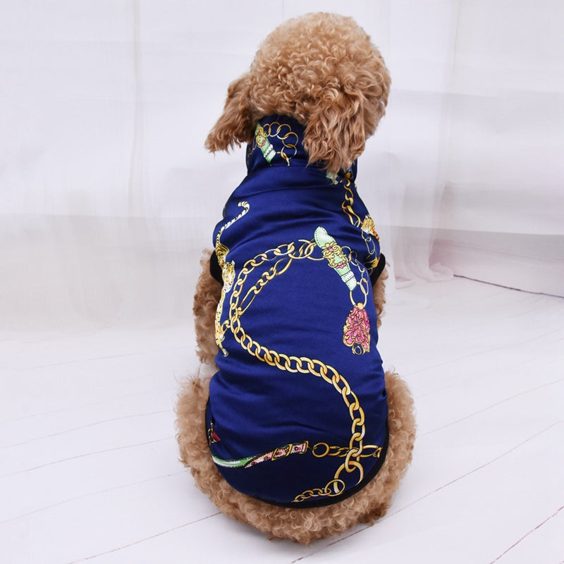 Luxurious Dog Jacket with Graphic Design - Style for Pets