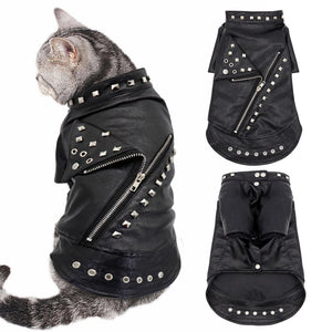 Leather Biker Animal Jacket - Style for Pets