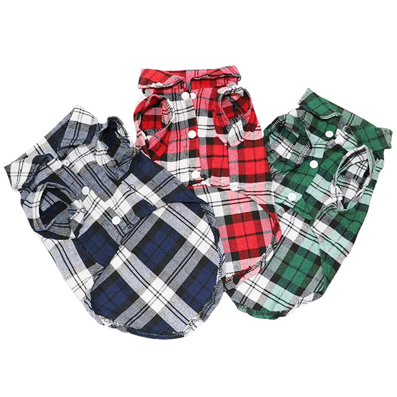 Plaid Dog Flannel - Style for Pets
