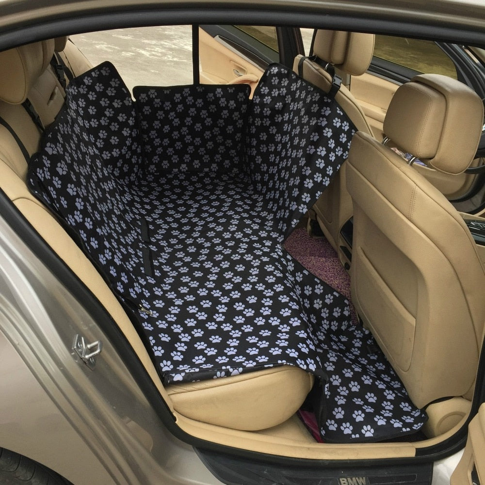 Paw Print Waterproof Dog Car Seat Cover - Style for Pets