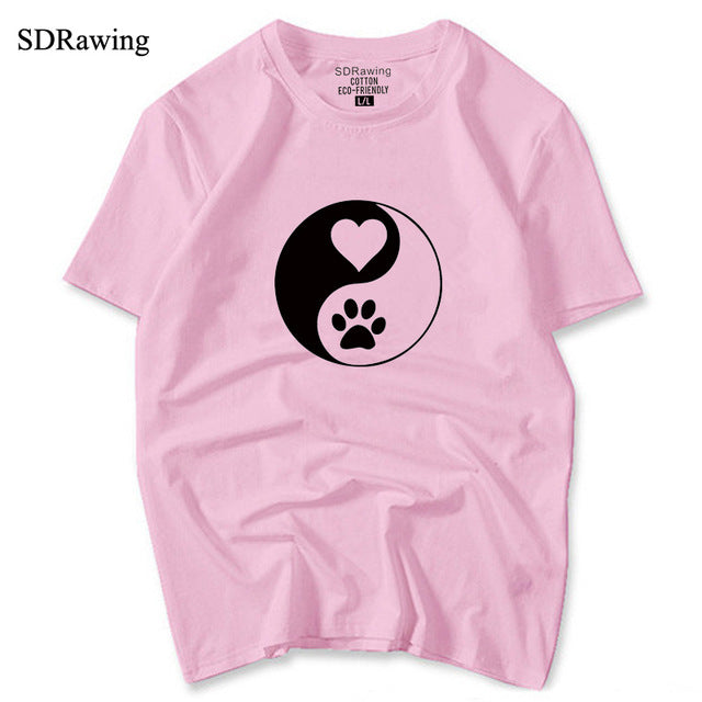 Yin Yang Dog Paw T-Shirt - Style for Pets