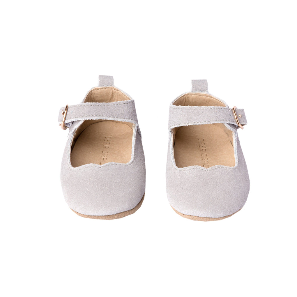 Slate Suede - Mary Jane - Soft Sole Shoes Deer Grace
