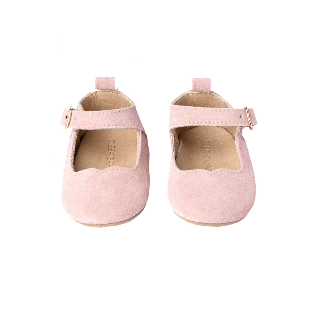Rose Suede - Mary Jane - Soft Sole Shoes Deer Grace