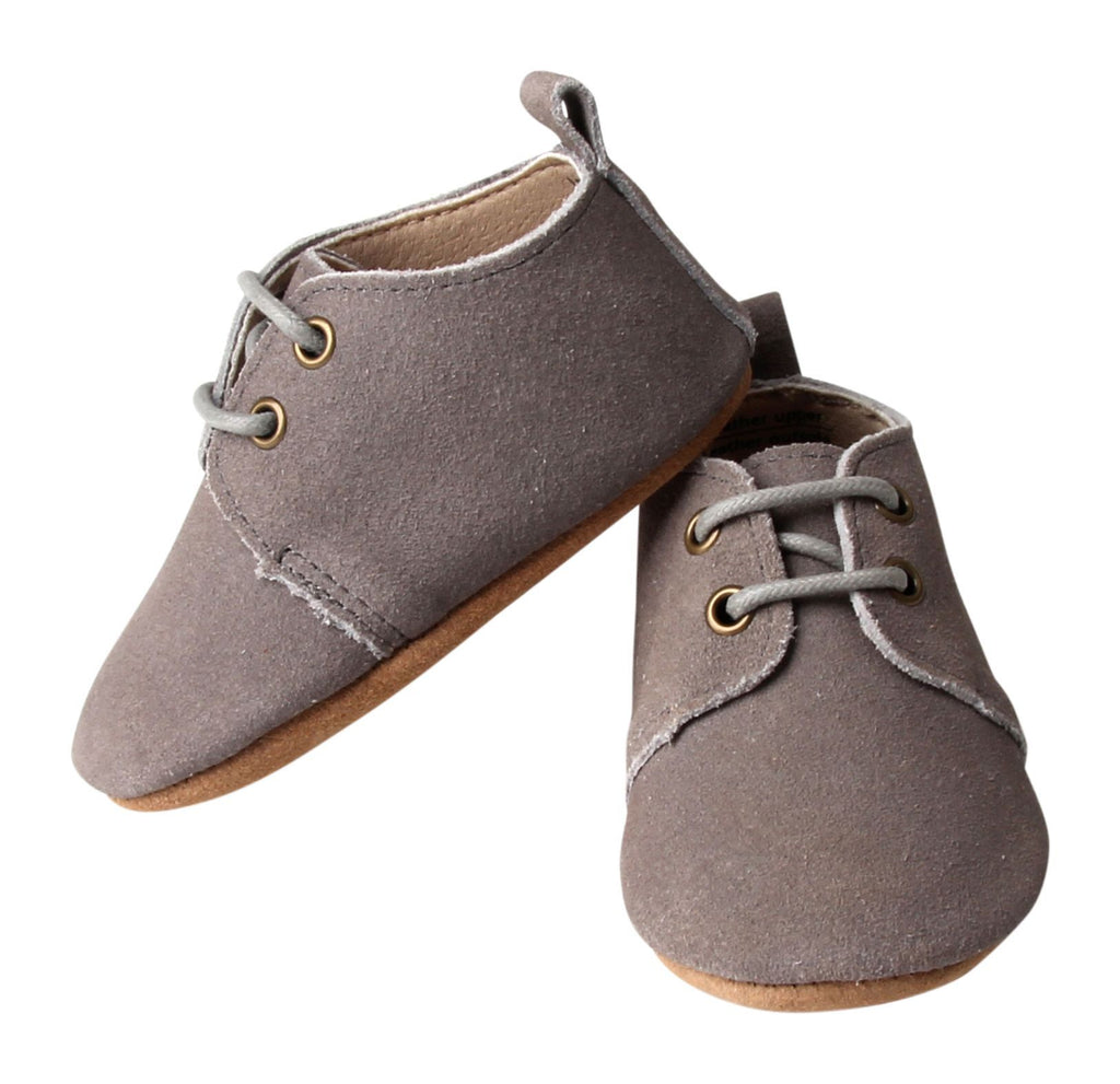 Slate - Oxford - US Size 1-5 - Soft Sole Shoes Deer Grace