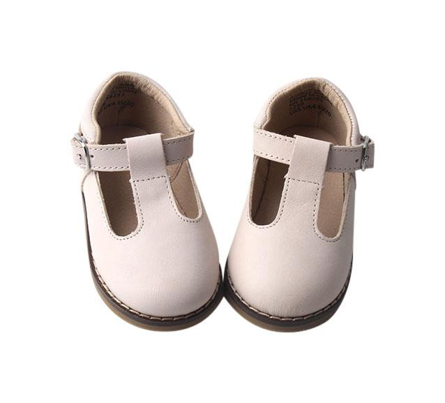 Cream - Classic T-Bar - US Size 5-10 - Hard Sole Shoes Deer Grace