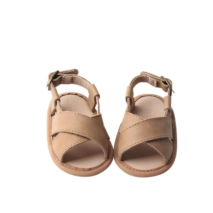 Saddle - Cross Sandal - US Size 1-4 - Soft Sole Shoes Deer Grace