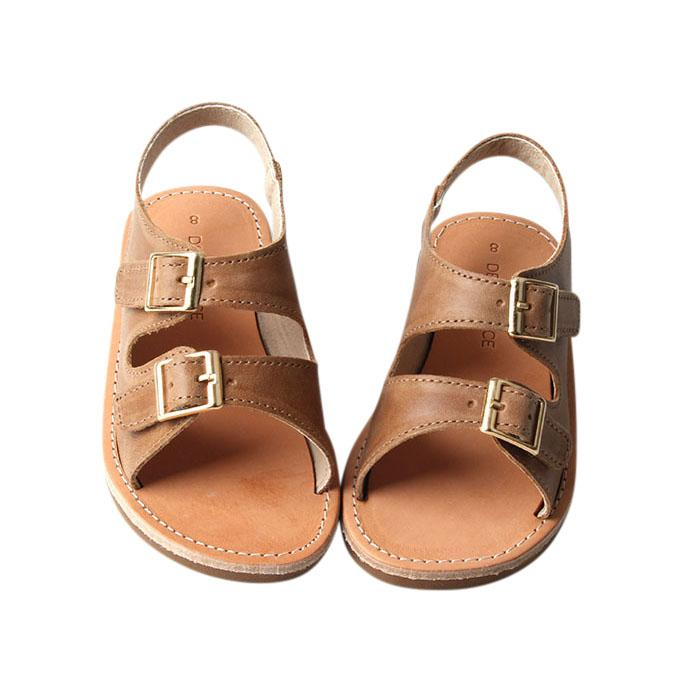 Camel - Summer Sandal - US Size 5-9 - Hard Sole Shoes Deer Grace