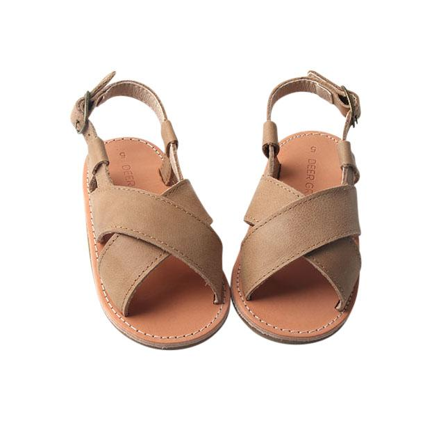 Saddle - Cross Sandal - US Size 5-9 - Hard Sole Shoes Deer Grace