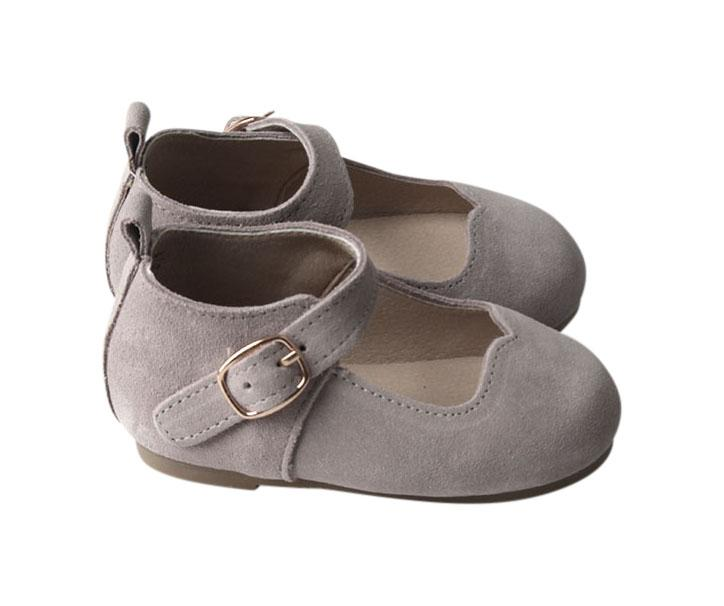 Slate Suede - Mary Jane - US Size 5-8 - Hard Sole Shoes Deer Grace